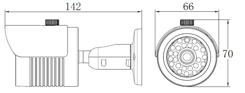 AVHN20HA - nadstandardně vybavená analogová kamera
