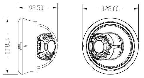 ADT45HV - TOP model dome kamery, varifokální objektiv