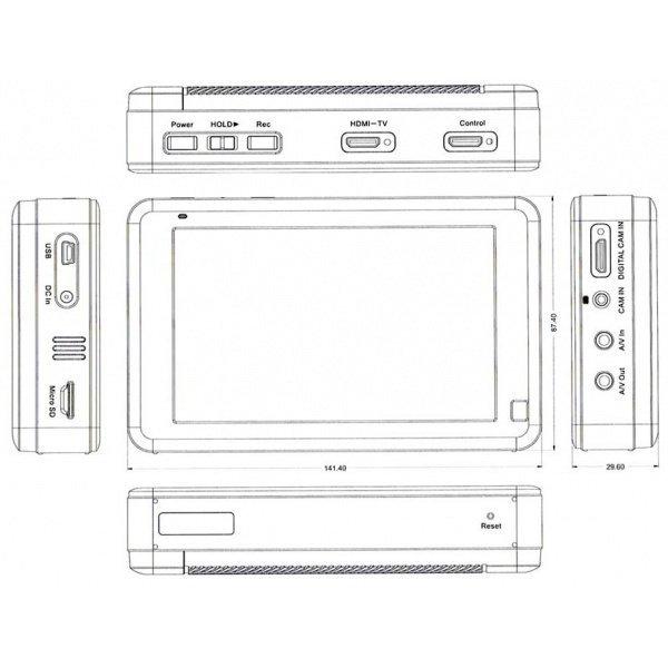 Profesionální dotykové DVR LawMate PV-1000Lite