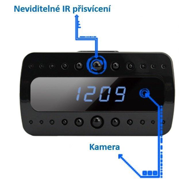 Stolný digitálny budík s Wi-Fi kamerou