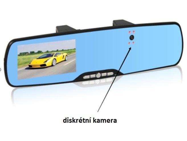 2CH zrcátko s diskrétní kamerou a GPS