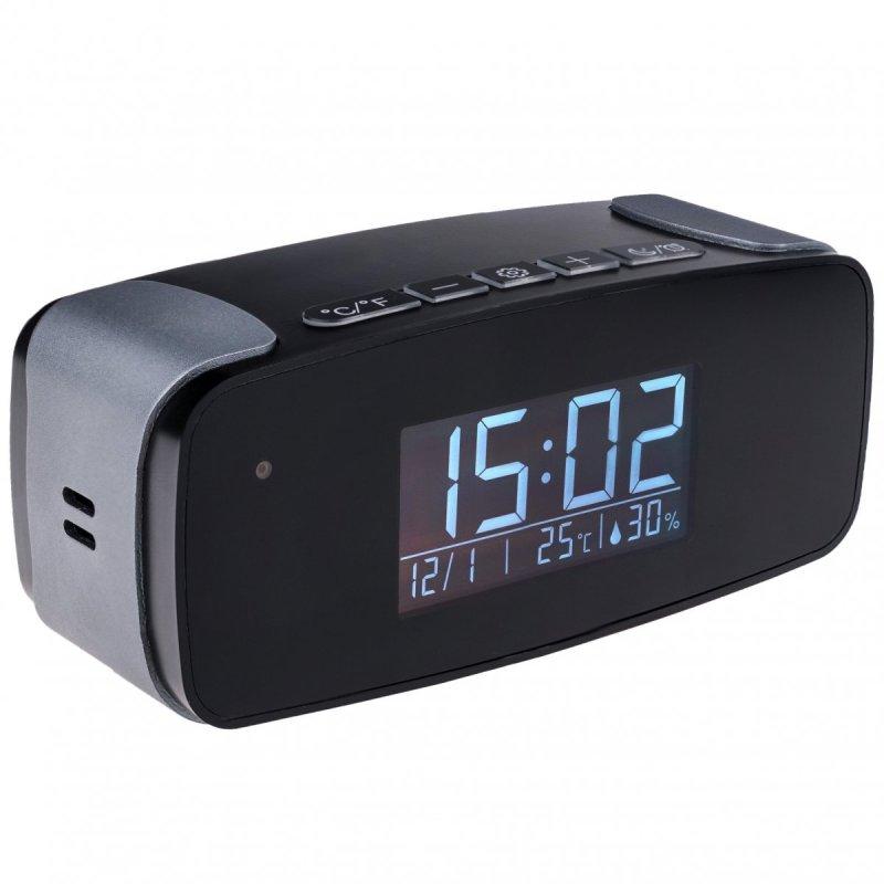 Mały zegar cyfrowy Secutek SAH-IP006 z ukrytą WiFi kamerą