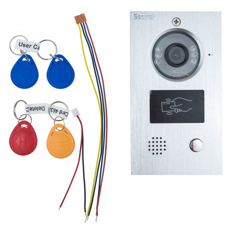 Metall-Videoklingel Secutek CAM205A mit RFID Lesegerät