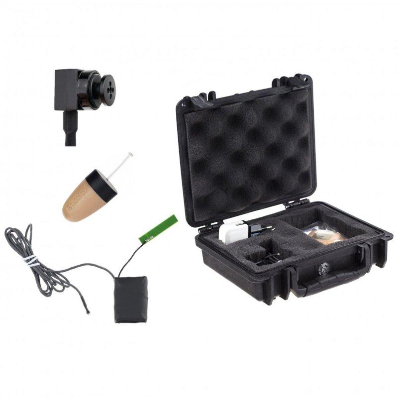 Secutek MS19 - sada mikroslúchadla a gombíkovej kamery pre online prenos