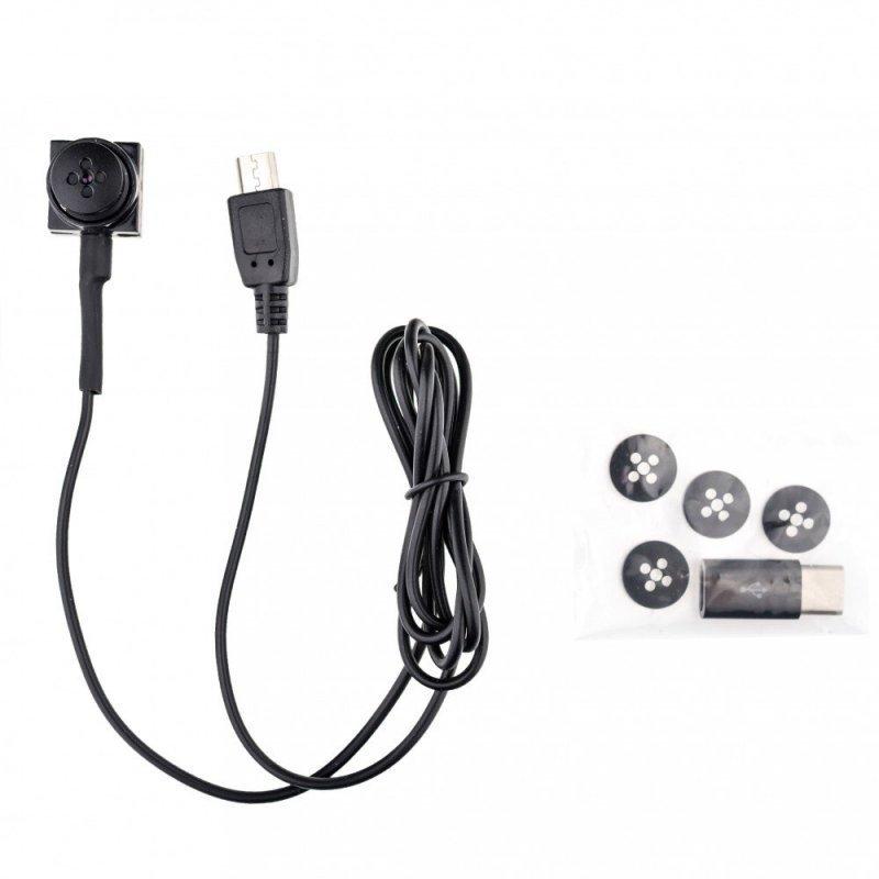 Secutek MS19 - sada mikrosluchátka a knoflíkové kamery pro online přenos