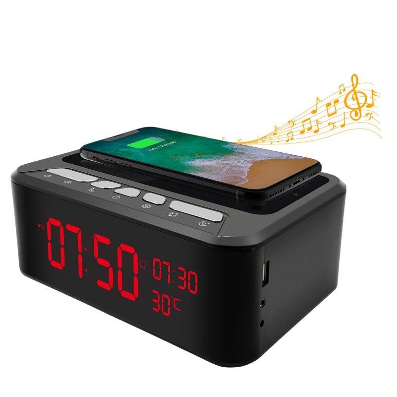 Bezdrátový reproduktor Secutek SAH-IP019 s dobíjecí stanicí pro smartphone
