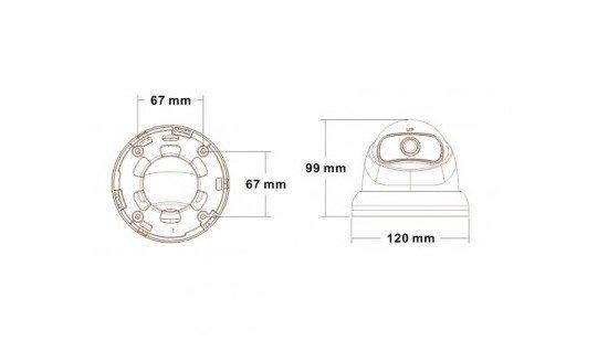 Secutek SLG-LPDSHTC200F - AHD dome kamera s varifokálnym objektívom