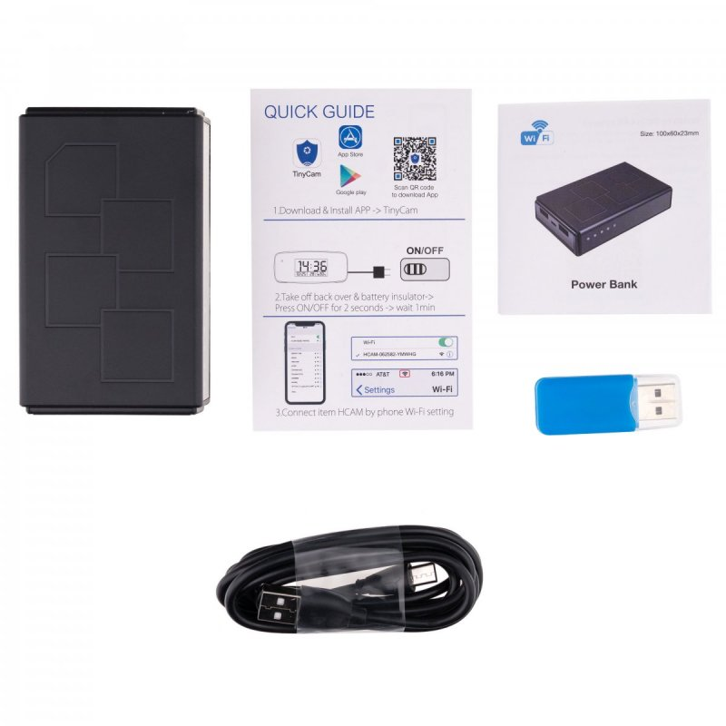 Power bank WiFi kamerával Secutek SAH-IP032