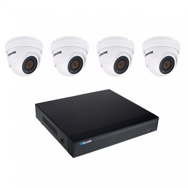 Kameraset Secutek SLG-NVR3604CDP1FE800 - 4x 8MP Dome Kamera, NVR