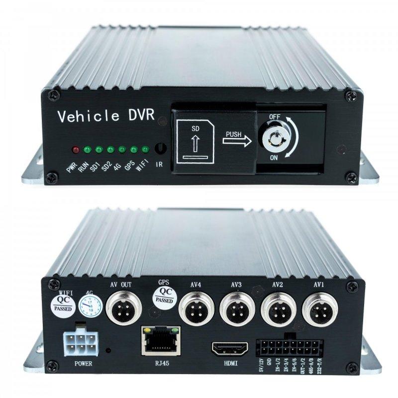Secutek SBR-327HD-GPS - 4 csatornás 2MP AHD autós DVR (GPS lehetőséggel)