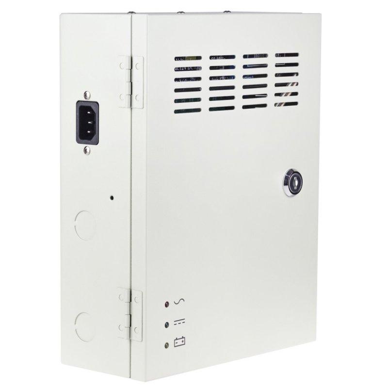 Záložní zdroj pro kamerové systémy Secutek CP1209-10A-B (12V/10A) s 9 výstupy