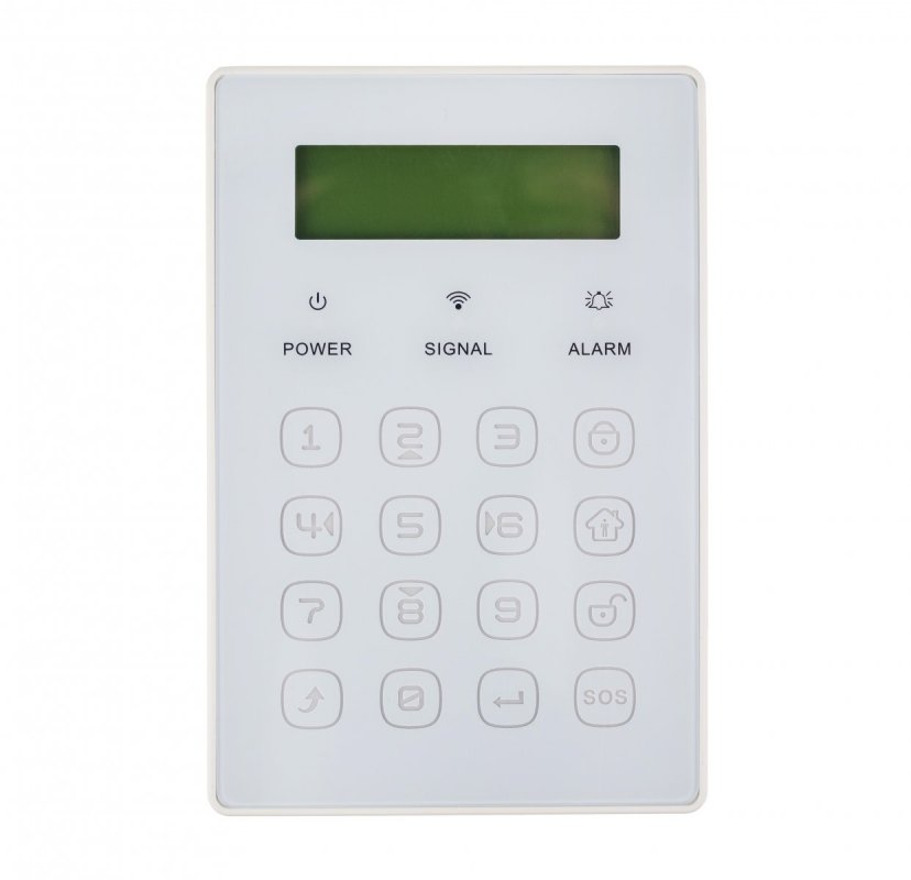 Bezdrátová klávesnice JP-08 k alarmům Secutek SWD