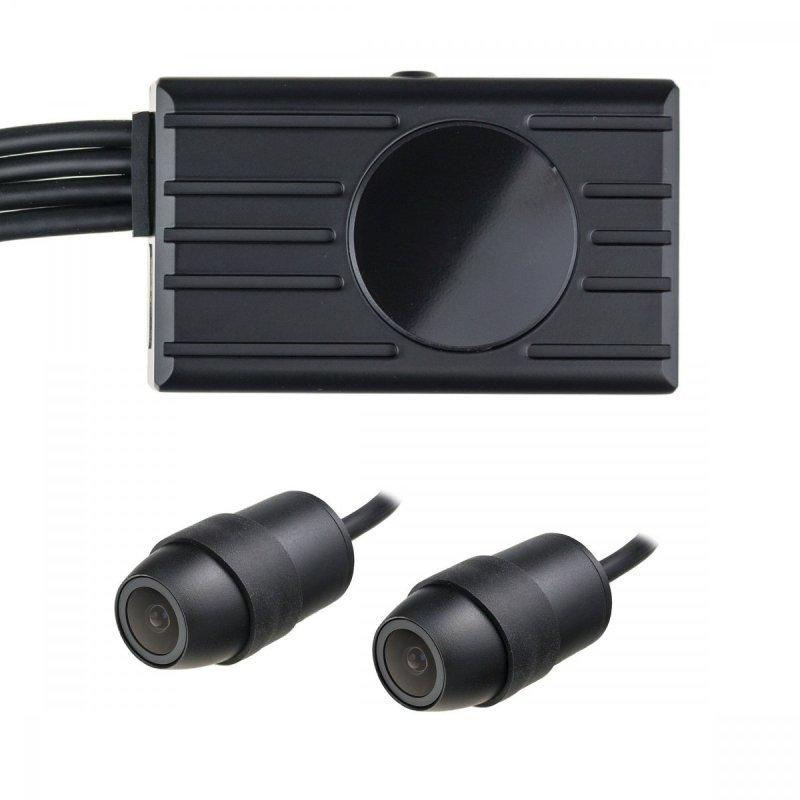 Двойна Full HD система от камери D2P-WiFi за кола или мотоциклет - 2 камери, LCD монитор