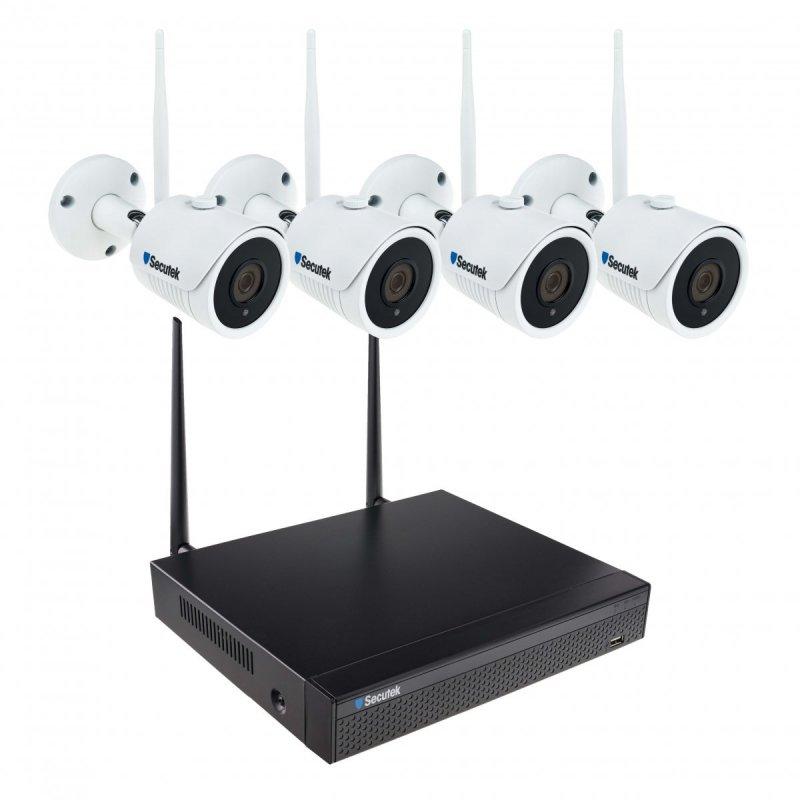 WiFi система от камери Secutek SLG-WIFI3608ED4FE200 - 4x2Mpix камера, NVR