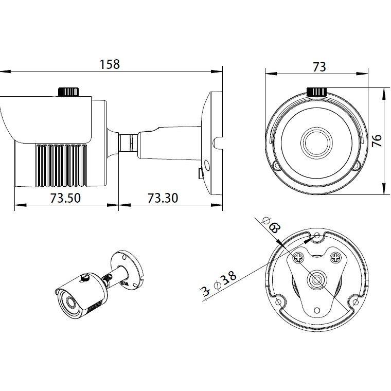 WiFi kamerový systém Secutek SLG-WIFI3604M4FE200 - 4x2Mpix kamera, NVR s displejem