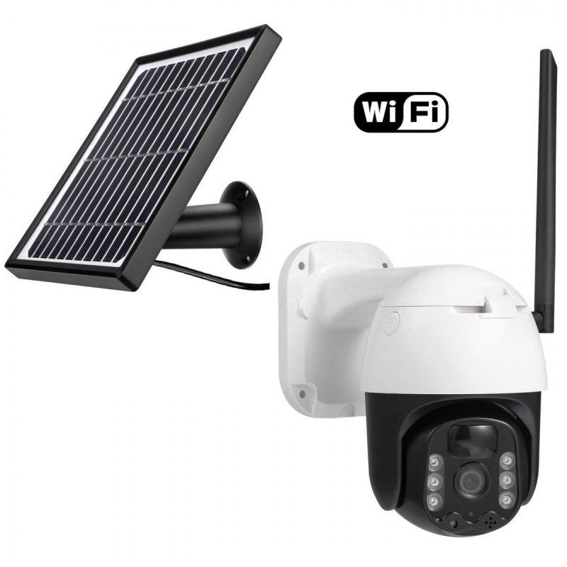 Bateriová solární WiFi IP PTZ kamera Secutek SBS-QSD05W