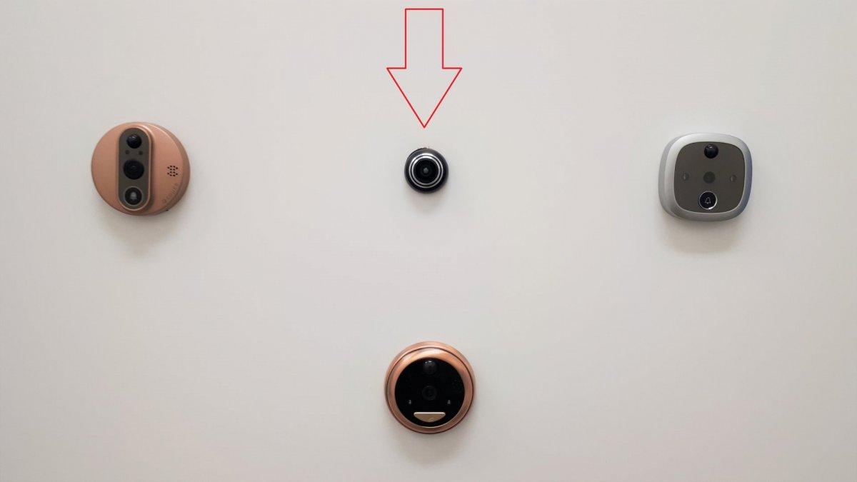 WiFi-s ajtókitekintő Secutek SKI-ID158IP2MPW2