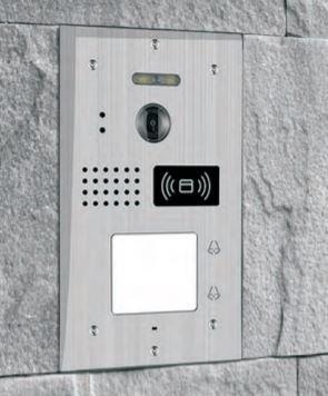 Метален видео звънец Secutek SPL-111K-2 с RFID четец