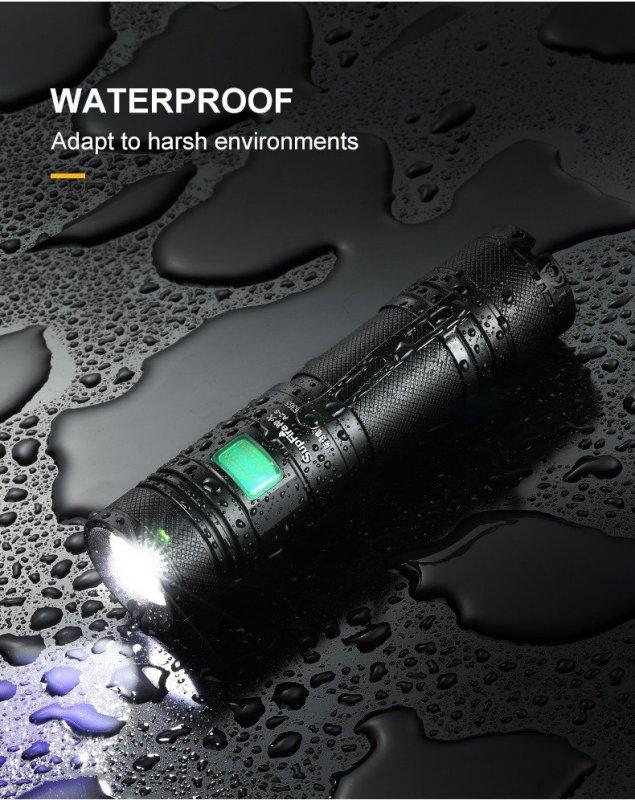 Supfire A2 LED акумулаторно фенерче Luminus SST-40-W 650lm, USB, Li-ion