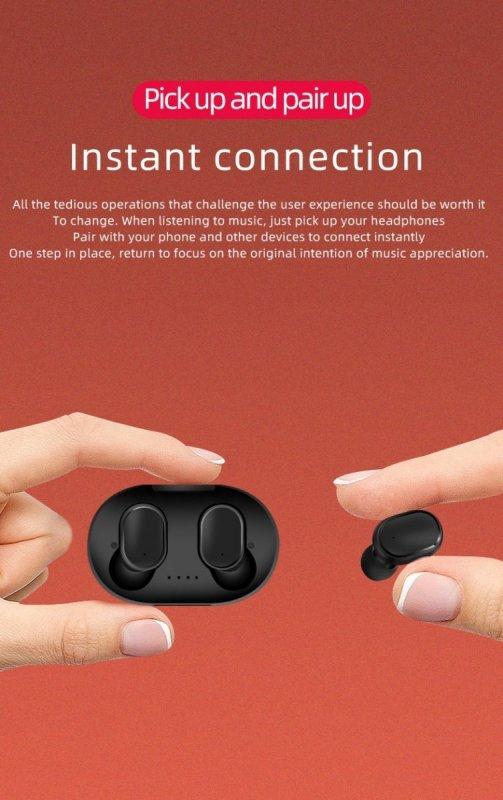 TWS Слушалки A6S с Bluetooth 5.0 и калъф за зареждане