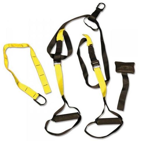 Окачена фитнес система TRX с регулируема дължина на каишката