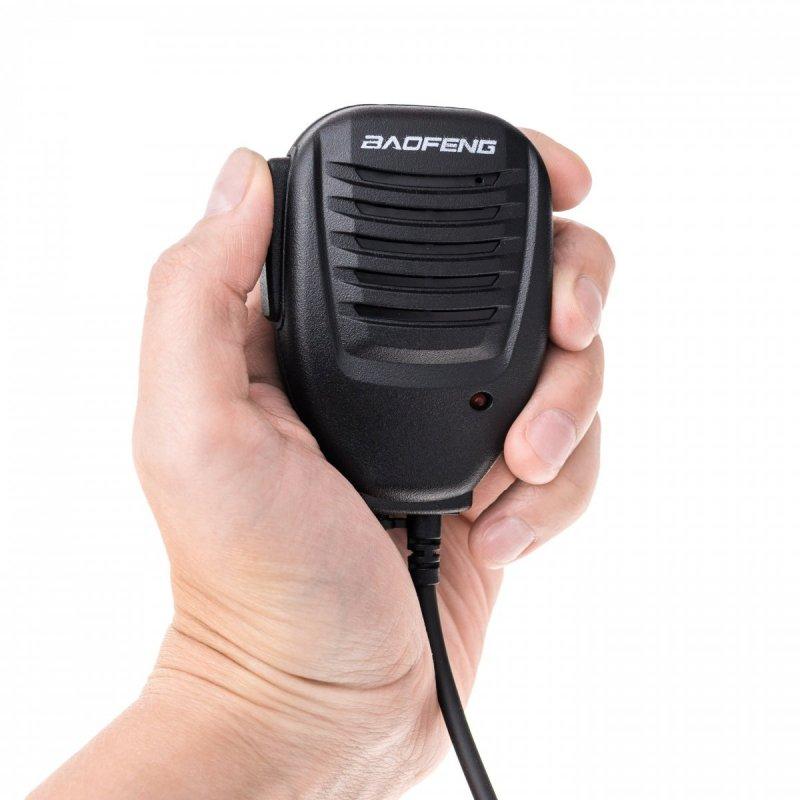 Wodoodporny mikrofon zewnętrzny z głośnikiem do Baofeng UV-9R Plus