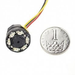 Minikamera CCTV 520TVL; 0 luksów; 52°; IR LED