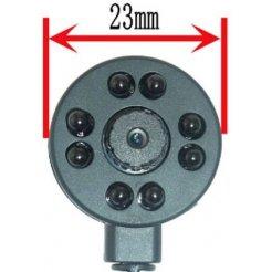 Minikamera CCTV - 78°; 600TVL; IR940nm