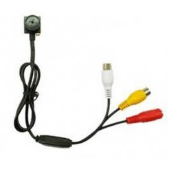 Minikamera CCTV w guziku - 600TVL, 0,5 luksa, 60° pinhole