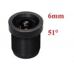 6mm objektiv M12x0.5 - 51°