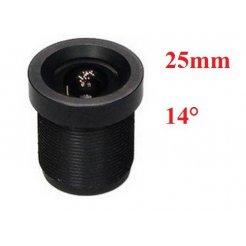 25mm objektiv M12x0.5 - 14°