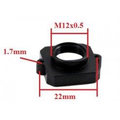 M12x0.5 ABS úchyt pro objektiv (22mm šířka)
