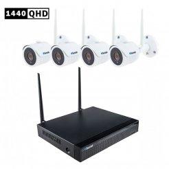 WLAN Kamerasystem Secutek SLG-WIFI3604D1S400 - 4x4Mpix Kamera, NVR
