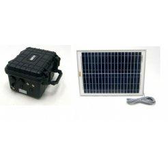 20W solární systém s akumulátorem pro bezpečnostní kamery - 12V + 5V USB SO202