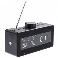Rádiós ébresztőóra időjárás állomással és forgatható WiFi kamerával
