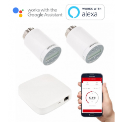 Set intelligente Thermostatköpfe Secutek Smart WiFi SSW-SEA801 und Gateway