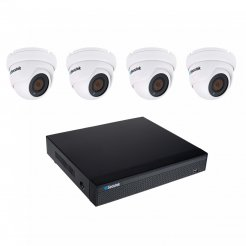 5MP kamerový set Secutek SLG-NVR3604CDP1FE800 - 4x 5MP dome kamera, NVR