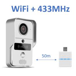WiFi IP videozvonek DBV02P s RFID čtečkou + 433MHz zvonek