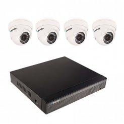 8MP Kameraset Secutek mit 4k Aufzeichnung SLG-NVR3604CDP1FE800 - 4x 8MP dome Kamera, NVR