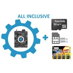 Vadkamera beállítása + SIM-kártya + 32 GB SD-kártya