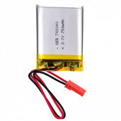 3.7V 750mAh dobíjecí lithiová baterie