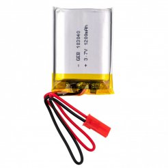 3,7 V 1200 mAh újratölthető lítium akkumulátor