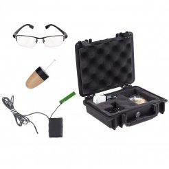 Secutek MS19-GL - sada mikrosluchátka a brýlí s kamerou pro online přenos
