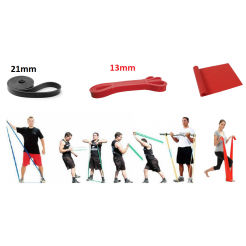 Комплект тренировъчни ластици 0-40кг, 3бр.