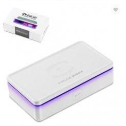 Безжично QI зарядно със стерилизатор за мобилен телефон