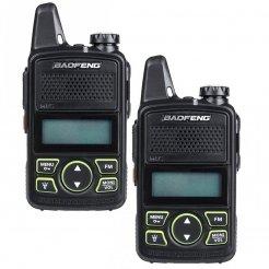 Set mit 2 Mini-UHF-Funkgeräten Baofeng BF-T1