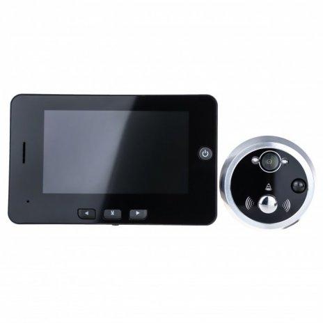 Digitální dveřní kukátko - 4,3 LCD, IR, PIR