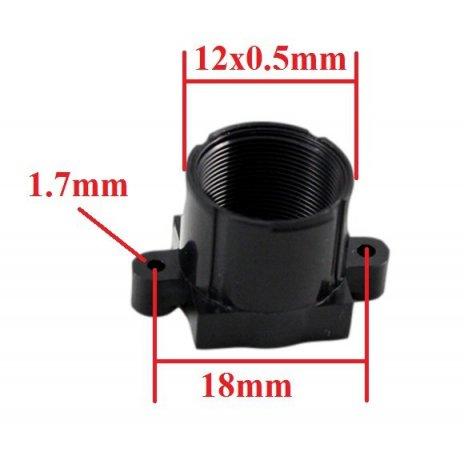 M12x0.5 ABS úchyt pro objektiv (18mm šířka)