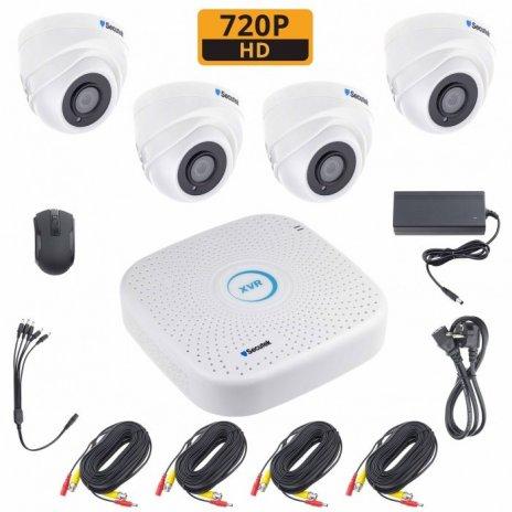 Kamerový set Secutek XVR2004PGHE10 včetně 1TB HDD - 4x dome kamery, 720P