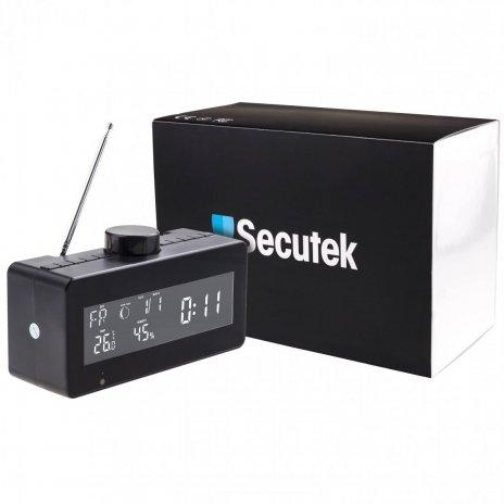 Radiobudík s meteostanicí a otočnou Wi-Fi kamerou Secutek SAH-IP80
